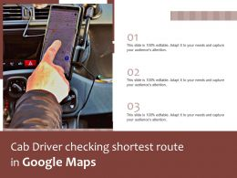 Cab Driver Checking Shortest Route In Google Maps