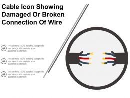 Cable Icon Showing Damaged Or Broken Connection Of Wire