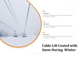 Cable Lift Coated With Snow During Winter