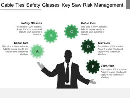 Cable Ties Safety Glasses Key Saw Risk Management Project Kick