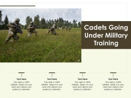 Cadets Going Under Military Training
