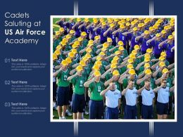 Cadets Saluting At US Air Force Academy