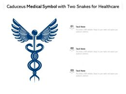 Caduceus Medical Symbol With Two Snakes For Healthcare