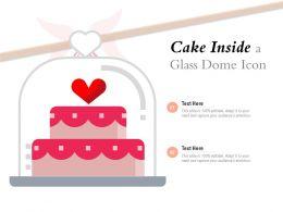 Cake Inside A Glass Dome Icon