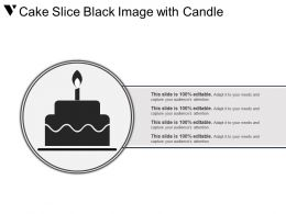 Cake Slice Black Image With Candle