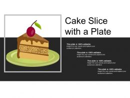 Cake Slice With A Plate
