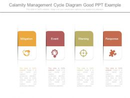 Calamity Management Cycle Diagram Good Ppt Example