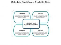 Calculate Cost Goods Available Sale Ppt Powerpoint Presentation Styles Graphic Tips Cpb