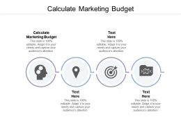 Calculate Marketing Budget Ppt Powerpoint Presentation Portfolio Clipart Images Cpb