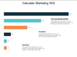 Calculate Marketing ROI Ppt Powerpoint Presentation Pictures File Formats Cpb