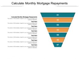 Calculate Monthly Mortgage Repayments Ppt Powerpoint Presentation Infographic Template Cpb
