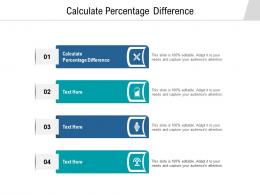 Calculate Percentage Difference Ppt Powerpoint Presentation Slides Shapes Cpb