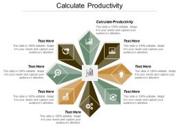 Calculate Productivity Ppt Powerpoint Presentation Summary Introduction Cpb