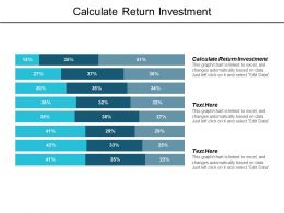 Calculate Return Investment Ppt Powerpoint Presentation Infographics Background Image Cpb