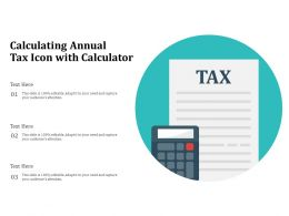 Calculating Annual Tax Icon With Calculator