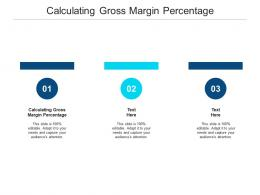 Calculating Gross Margin Percentage Ppt Powerpoint Presentation Styles Picture Cpb