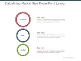 Calculating Market Size Powerpoint Layout