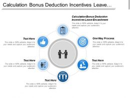 Calculation Bonus Deduction Incentives Leave Encashment One Way Process