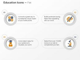 Calculation Graduate Microscope Paintbrush Ppt Icons Graphics