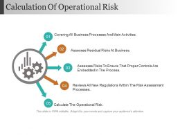 Calculation Of Operational Risk Ppt Slides