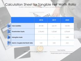 Calculation Sheet For Tangible Net Worth Ratio