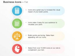 Calculator Balance Scale Idea Formation Ppt Icons Graphics