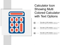 Calculator Icon Showing Multi Colored Calculator With Text Options