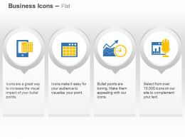 Calculator On Mobile Time Based Growth Financial Analysis Ppt Icons Graphics