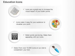 Calculator Paint Brush Paint Board Ppt Icons Graphics
