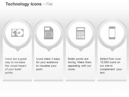 Calculator Phone Hard Drive Simcard Ppt Icons Graphics