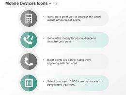 Calculator Phone Socket Communication Devices Ppt Icons Graphics