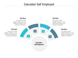 Calculator Self Employed Ppt Powerpoint Presentation Slides Information Cpb