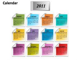 Calendar 2011 Planner Powerpoint Presentation Slides