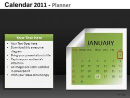 Calendar 2011 Planner Powerpoint Presentation Slides DB