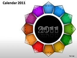 Calendar 2011 Powerpoint Presentation Slides