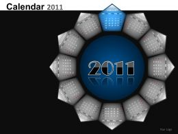 Calendar 2011 Powerpoint Presentation Slides DB