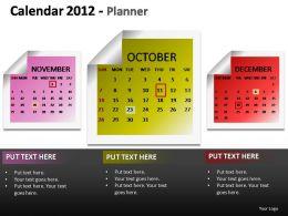 Calendar 2012 Planner Powerpoint Presentation Slides