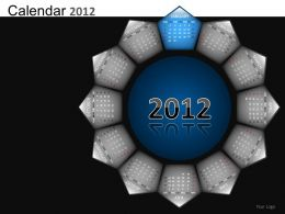 Calendar 2012 Powerpoint Presentation Slides DB