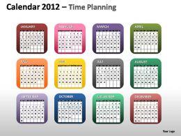 calendar_2012_time_planning_powerpoint_presentation_slides_Slide01