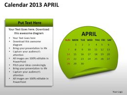 calendar_2013_april_powerpoint_slides_ppt_templates_Slide01
