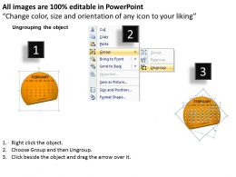 Calendar 2013 February PowerPoint Slides PPT templates