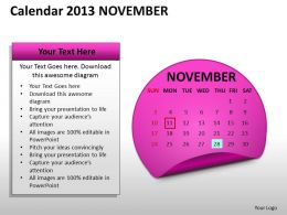 calendar_2013_november_powerpoint_slides_ppt_templates_Slide01