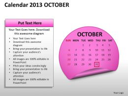 calendar_2013_october_powerpoint_slides_ppt_templates_Slide01