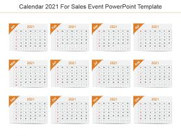 Calendar 2021 For Sales Event Powerpoint Template