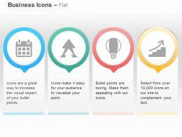calendar_arrow_hot_air_balloon_steps_to_success_ppt_icons_graphics_Slide01