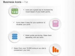 Calendar Calculate Hosting Statistics Ppt Icons Graphics