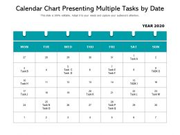 Calendar Chart Presenting Multiple Tasks By Date