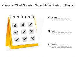 Calendar Chart Showing Schedule For Series Of Events