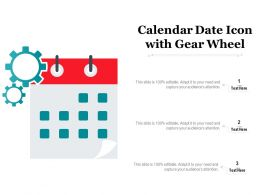 Calendar Date Icon With Gear Wheel