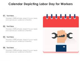 Calendar Depicting Labor Day For Workers